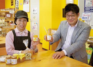 有限会社いずみの里 代表取締役 久保充己さん(左)弊社代表の北条竜太郎(右)
