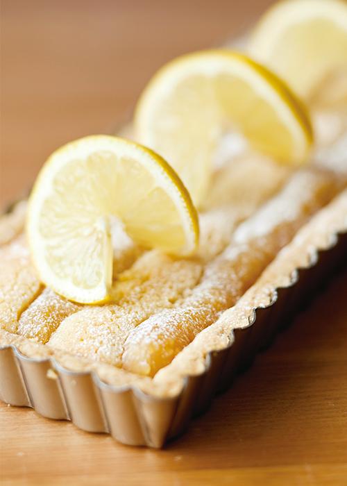 林檎とレモンのあんこタルト